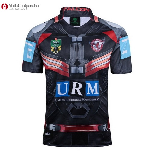 Maillot Rugby Pas Cher Manly Sea Eagles 2017/2018 Noir