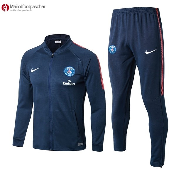 Survetement Foot Pas Cher Paris Saint Germain 2017/2018 Bleu Marine