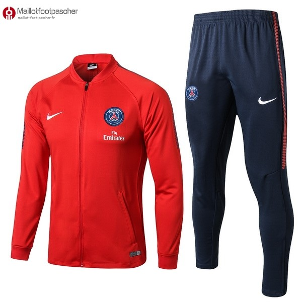 Survetement Foot Pas Cher Paris Saint Germain 2017/2018 Rouge Bleu Marine