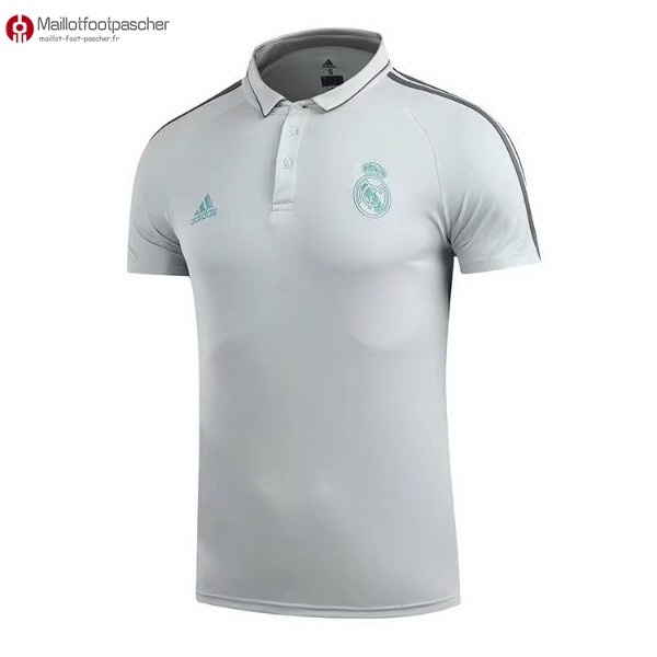 Polo Foot Pas Cher Real Madrid 2017/2018 Blanc Vert