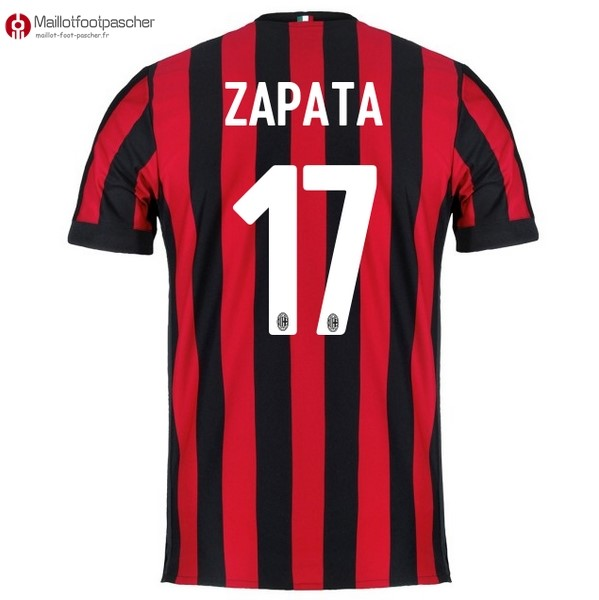 Maillot Foot Pas Cher Milan Domicile Zapata 2017/2018