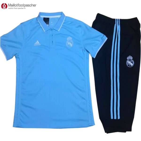 Polo Foot Pas Cher Real Madrid Ensemble Complet 2017/2018 Bleu