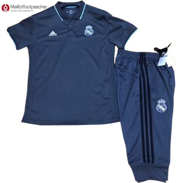 Polo Foot Pas Cher Real Madrid Ensemble Complet 2017/2018 Bleu Marine