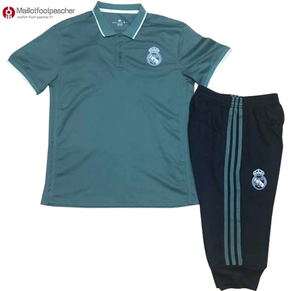 Polo Foot Pas Cher Real Madrid Ensemble Complet 2017/2018 Vert