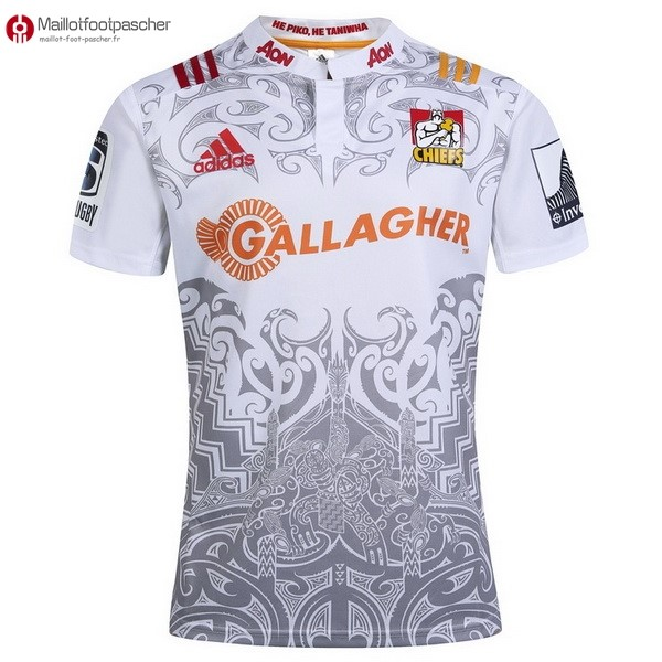 Maillot Rugby Pas Cher Chiefs Exterieur 2017/2018 Blanc