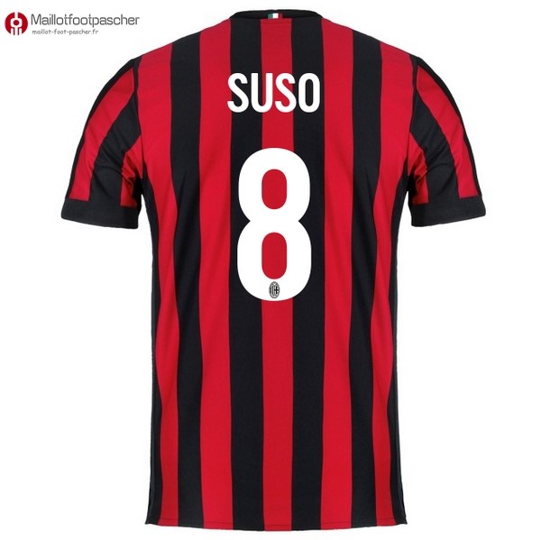 Maillot Foot Pas Cher Milan Domicile Suso 2017/2018