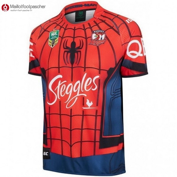 Maillot Rugby Pas Cher Sydney Roosters 2017/2018 Rouge