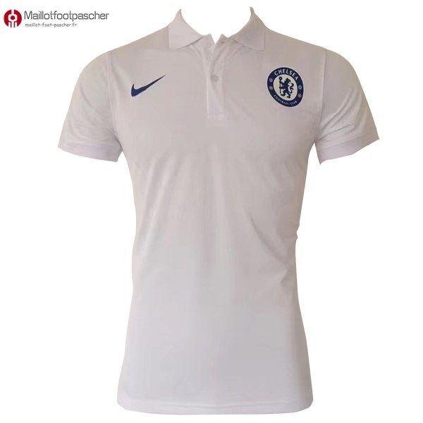Polo Foot Pas Cher Chelsea 2017/2018 Blanc