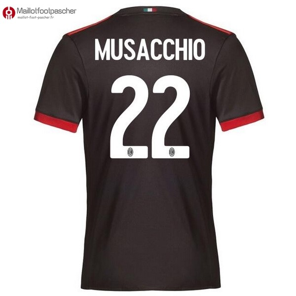 Maillot Foot Pas Cher Milan Third Musacchio 2017/2018