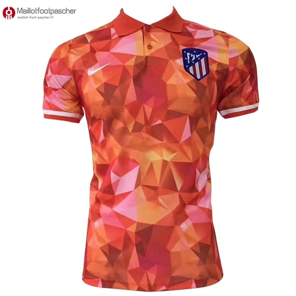 Polo Foot Pas Cher Atlético de Madrid 2017/2018 Orange