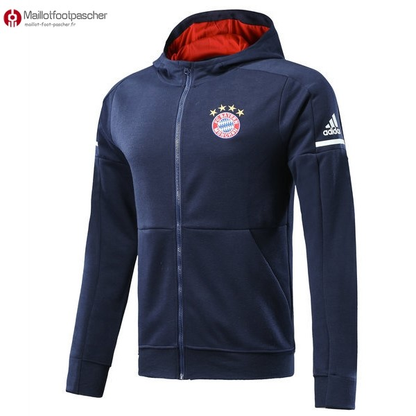 Sweat Shirt Capuche Bayern de Munich Enfant 2017/2018 Bleu