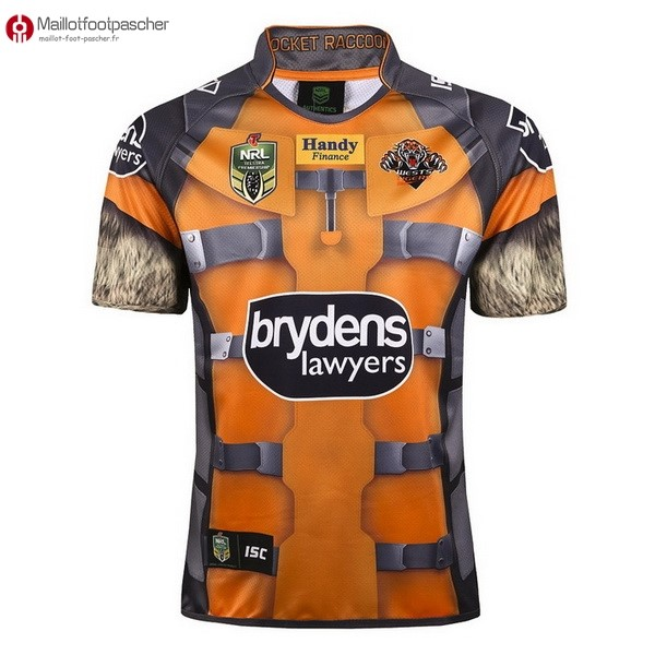 Maillot Rugby Pas Cher Wests Tigers 2017/2018 Jaune