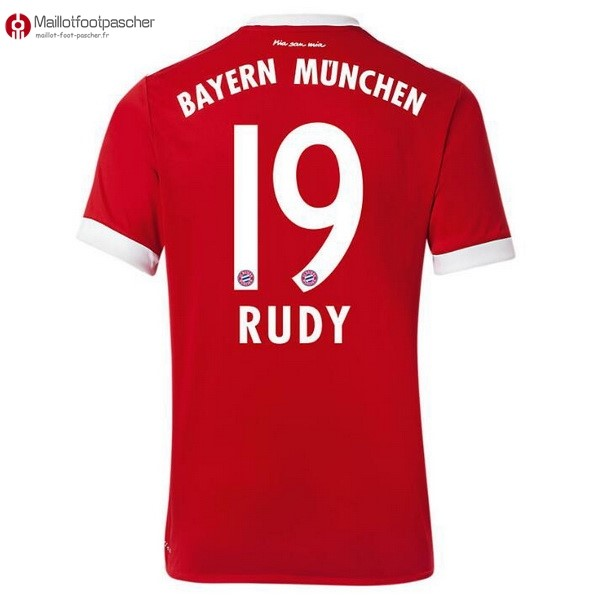 Maillot Foot Pas Cher Bayern Munich Domicile Rudy 2017/2018