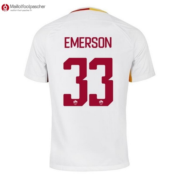 Maillot Foot Pas Cher AS Roma Exterieur Emerson 2017/2018