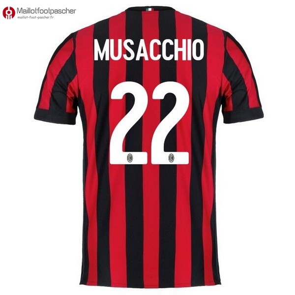 Maillot Foot Pas Cher Milan Domicile Musacchio 2017/2018