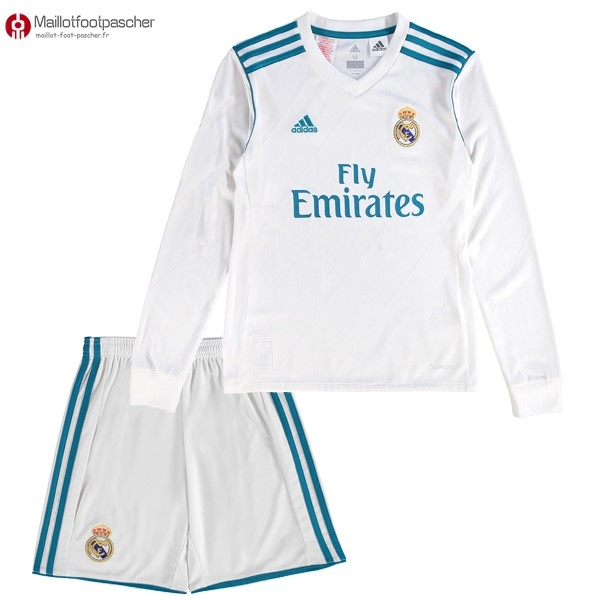 Maillot Foot Pas Cher Real Madrid Domicile ML Enfant 2017/2018