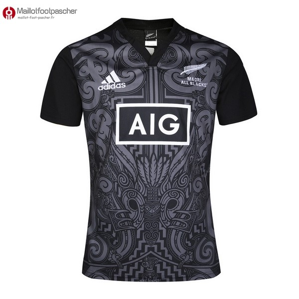 Maillot Rugby Pas Cher All Blacks Maori 2016 Noir