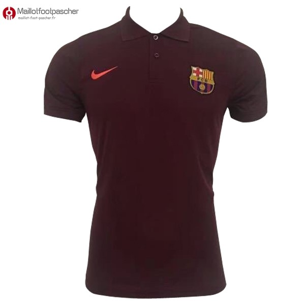 Polo Foot Pas Cher Barcelona 2017/2018 Rouge