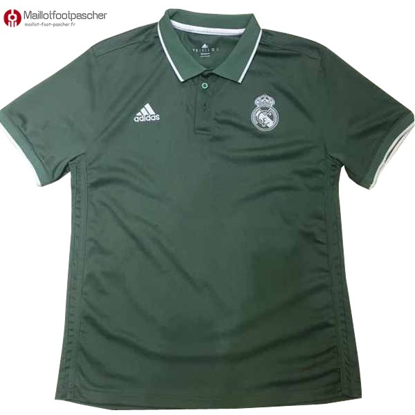 Polo Foot Pas Cher Real Madrid 2017/2018 Vert