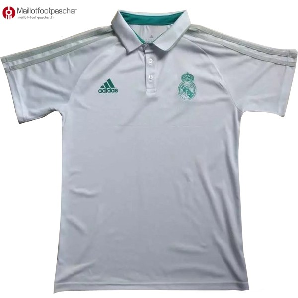 Polo Foot Pas Cher Real Madrid 2017/2018 Blanc
