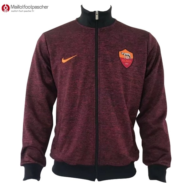 Veste Foot Pas Cher AS Roma 2017/2018 Rouge Marine
