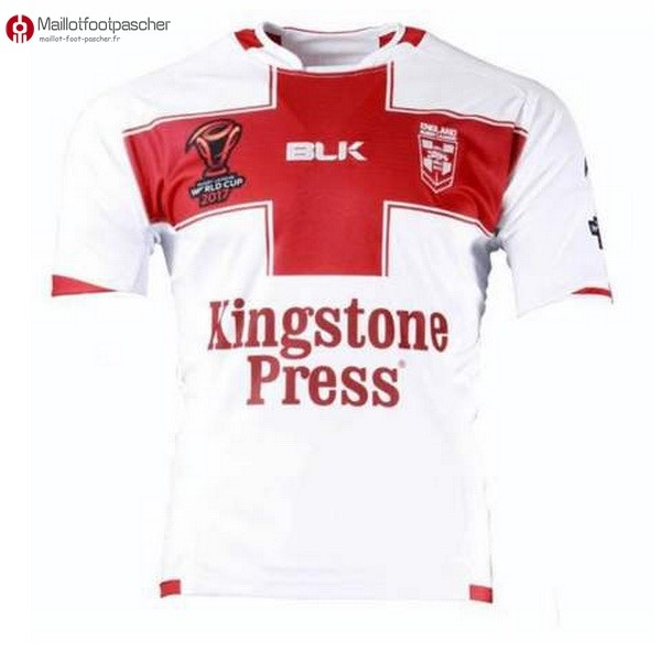 Maillot Rugby Pas Cher Angleterre RLWC Domicile 2017/2018 Blanc