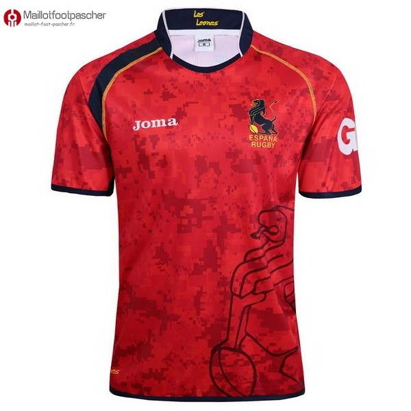 Maillot Rugby Pas Cher Espagne Domicile 2017/2018 Rouge